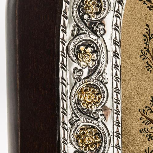Icona Grecia Albero di Jesse da tavolo argento 925 3