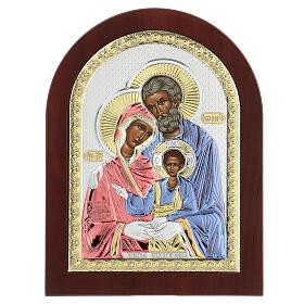 Icono serigrafiada Sagrada Familia plata s1