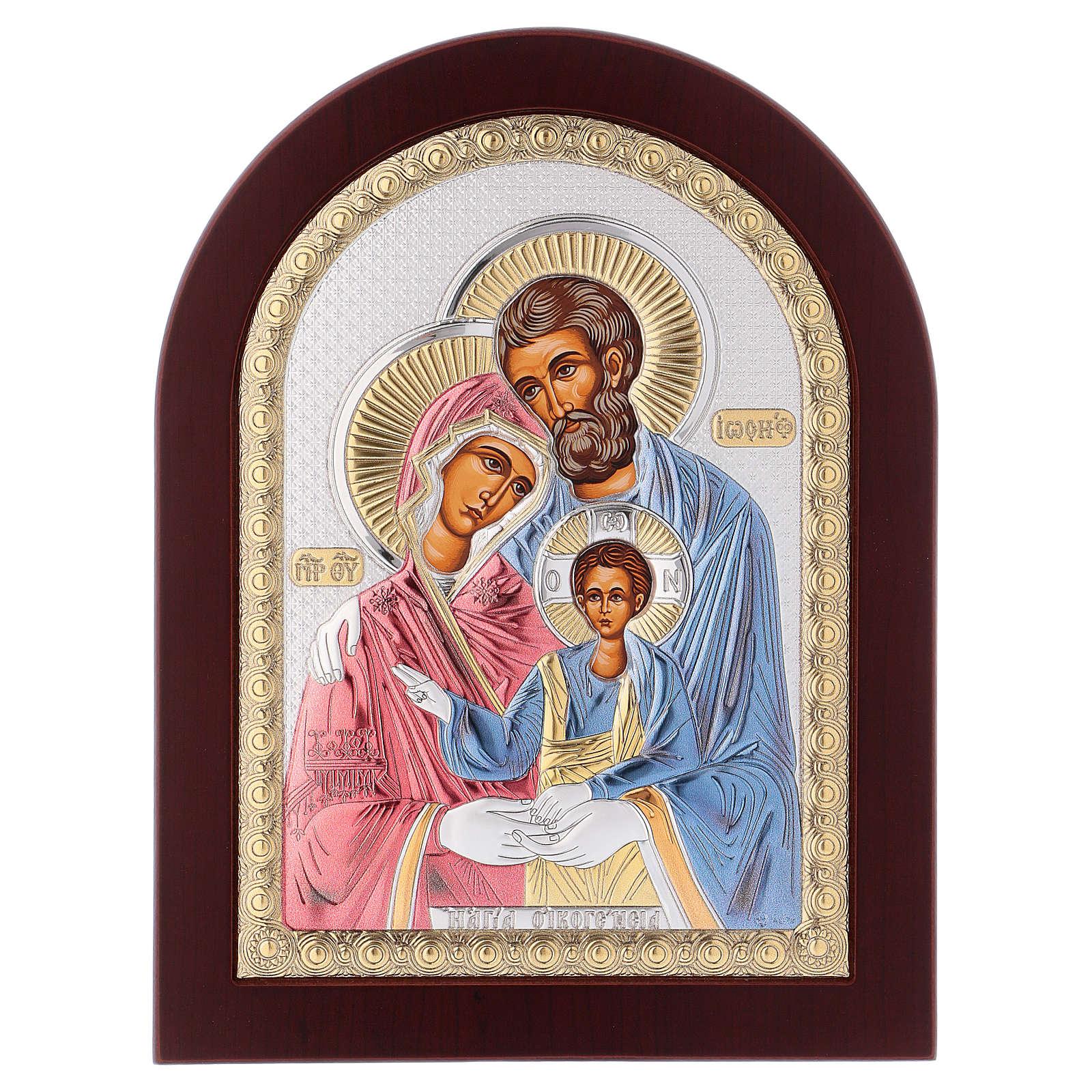 Icona serigrafata Sacra Famiglia argento 4