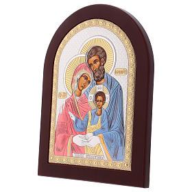 Icona serigrafata Sacra Famiglia argento s3