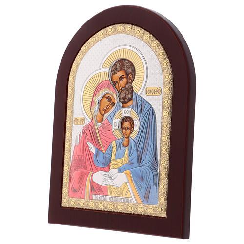 Icona serigrafata Sacra Famiglia argento 3