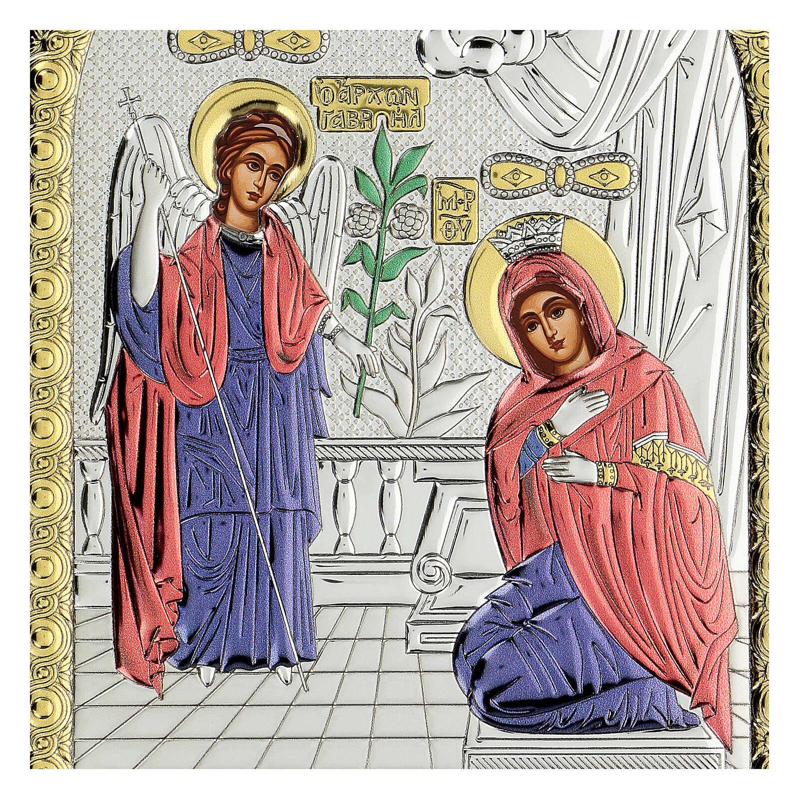 Icono serigrafiado Anunciación 4