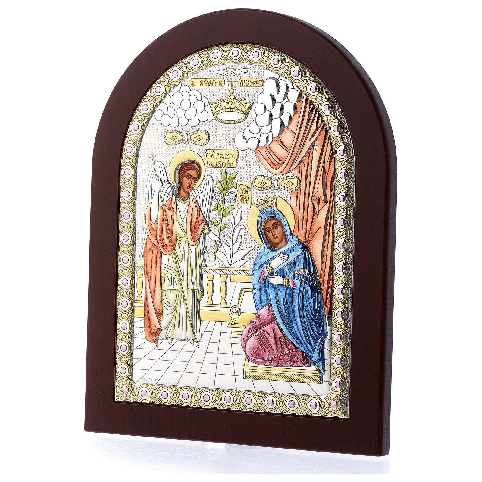 Annunciation icon in silver, silkscreen printing 4