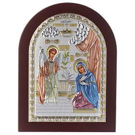 Annunciation icon in silver, silkscreen printing s1