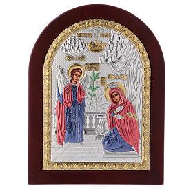 Annunciation icon in silver, silkscreen printing s3
