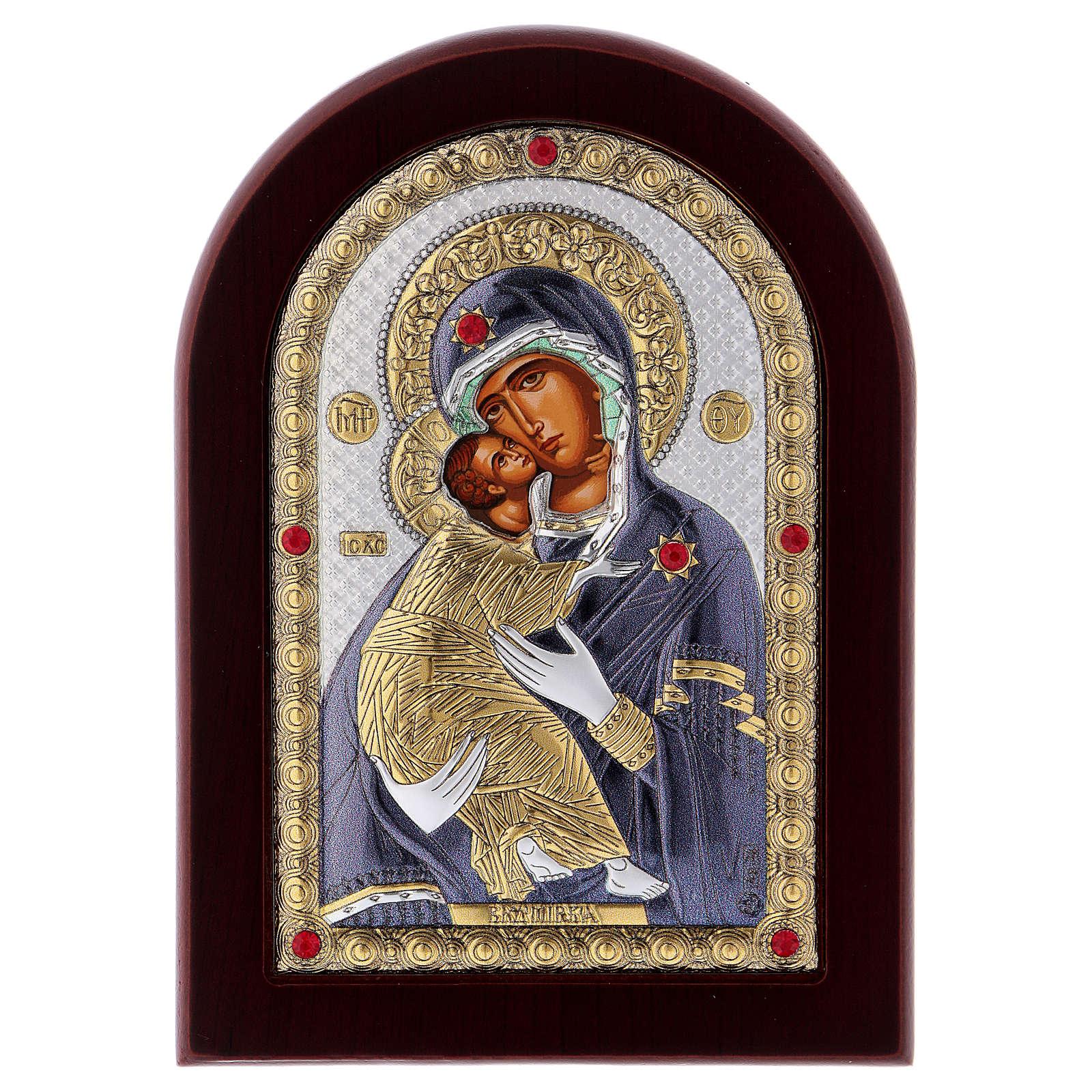 Icono serigrafiado Virgen de Vladimir plata 4