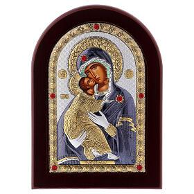 Icono serigrafiado Virgen de Vladimir plata s1