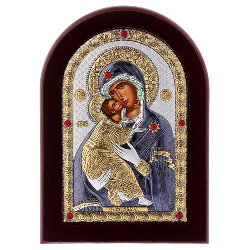 Icono serigrafiado Virgen de Vladimir plata 1