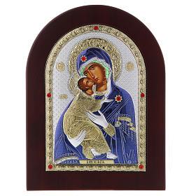 Icona serigrafata Madonna Vladimir argento s4