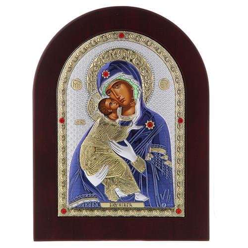 Icona serigrafata Madonna Vladimir argento 4