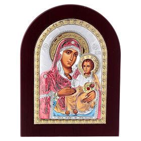 Icône sérigraphiée Mère de Dieu de Jérusalem argent s1