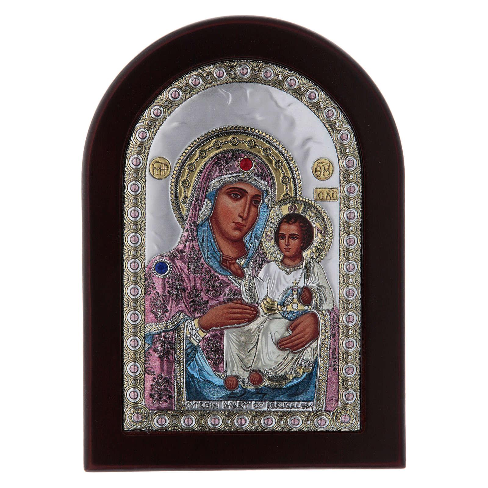 Icona serigrafata Vergine Maria Gerusalemme argento 4