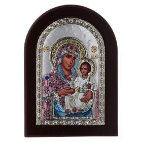 Icona serigrafata Vergine Maria Gerusalemme argento s1