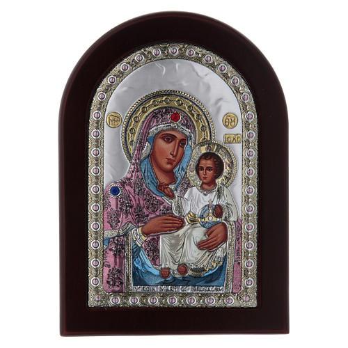 Icona serigrafata Vergine Maria Gerusalemme argento 1