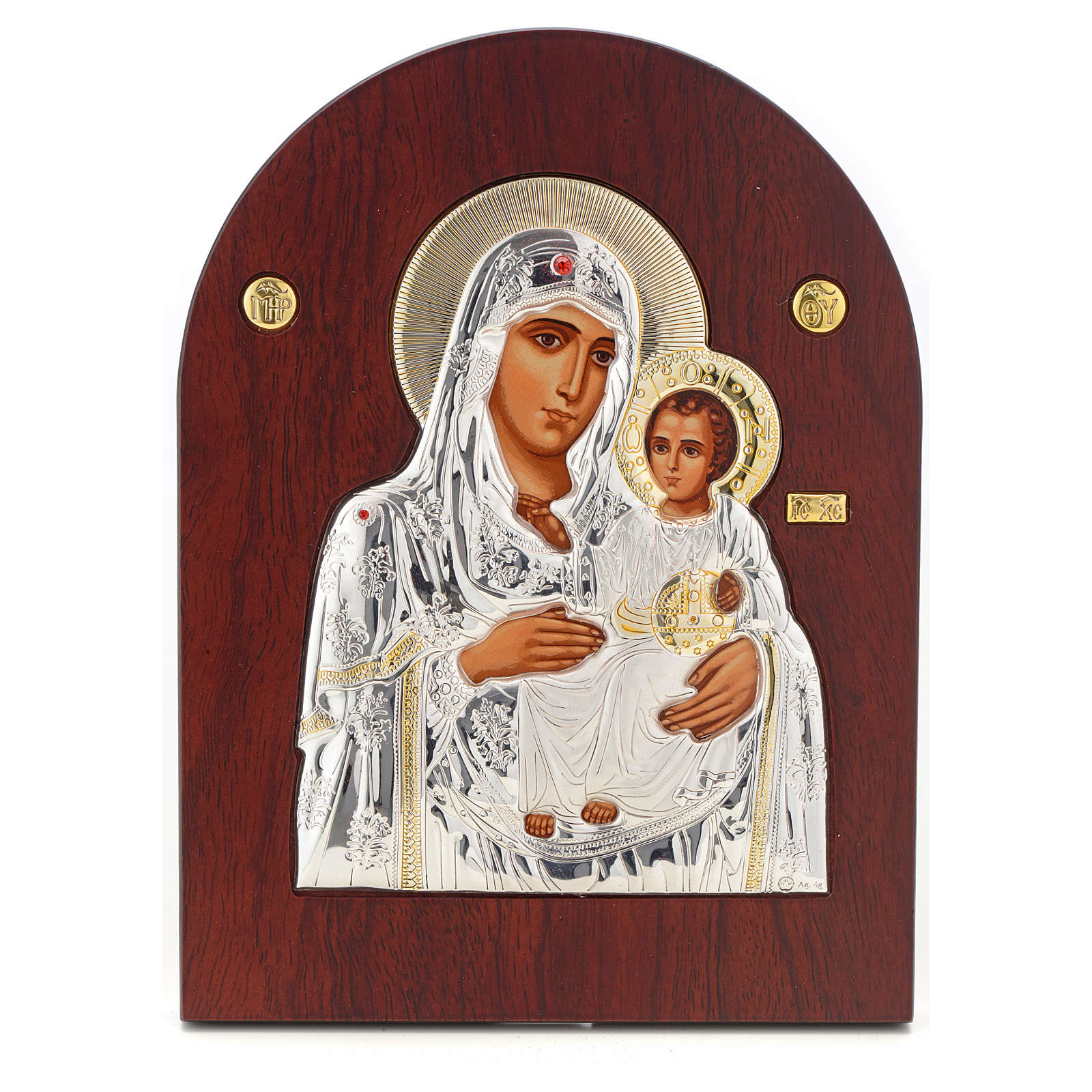 Virgin Mary of Jerusalem icon, silkscreen printing 4