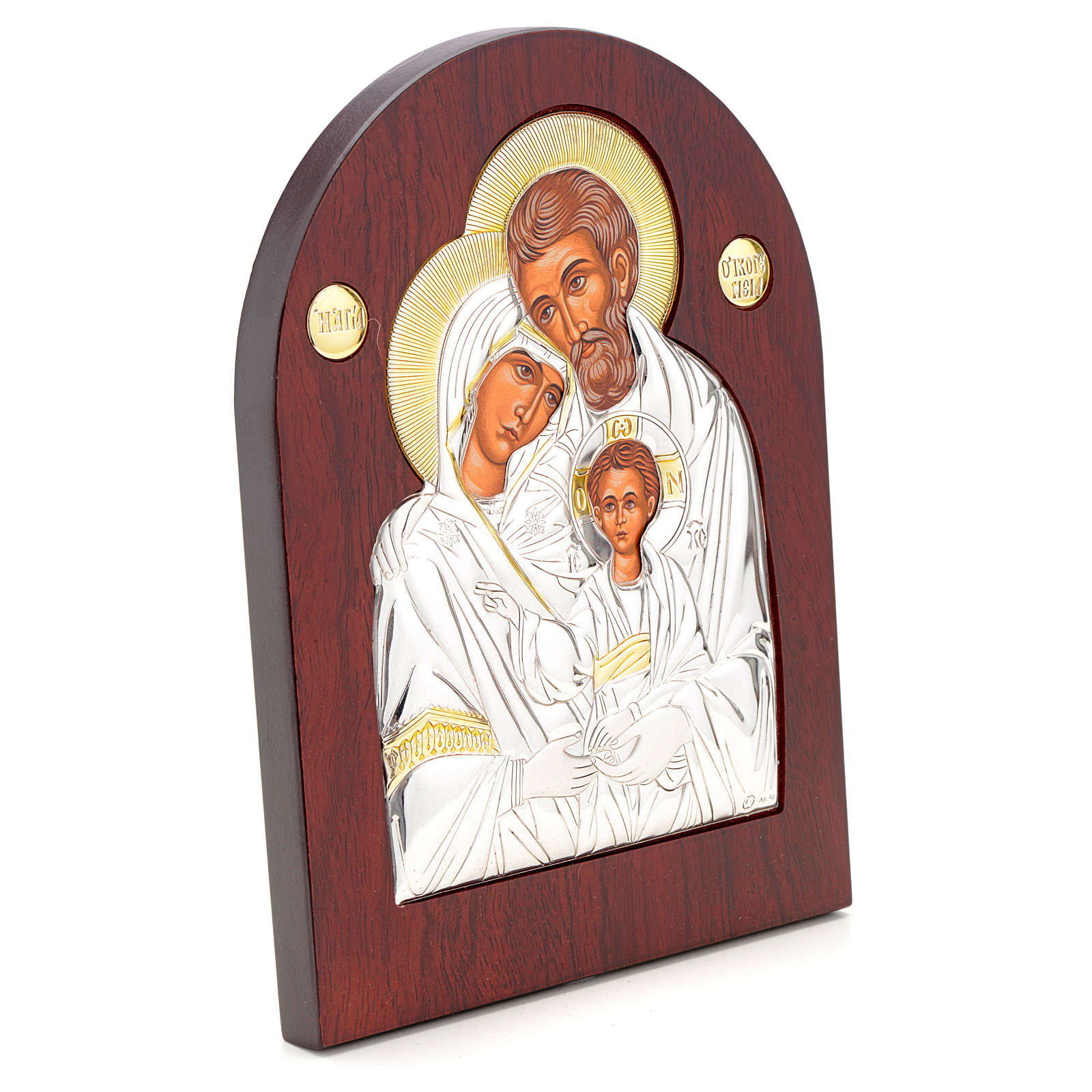 Holy Family icon, silkscreen printing arch shape 4