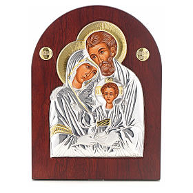 Holy Family icon, silkscreen printing arch shape s1