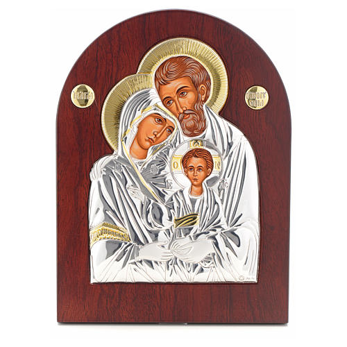 Holy Family icon, silkscreen printing arch shape 1