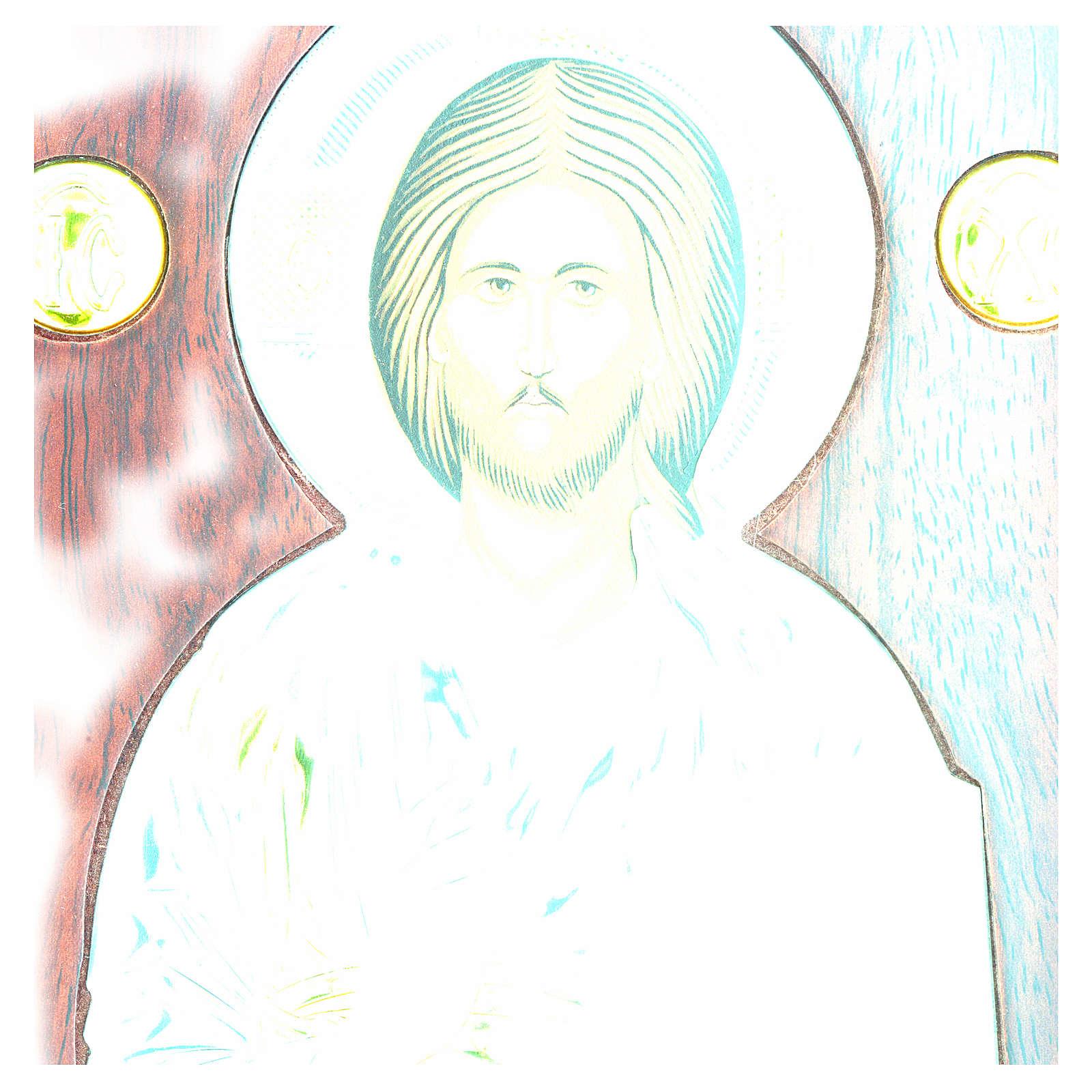 Icono plata serigrafiada en arco Cristo 4