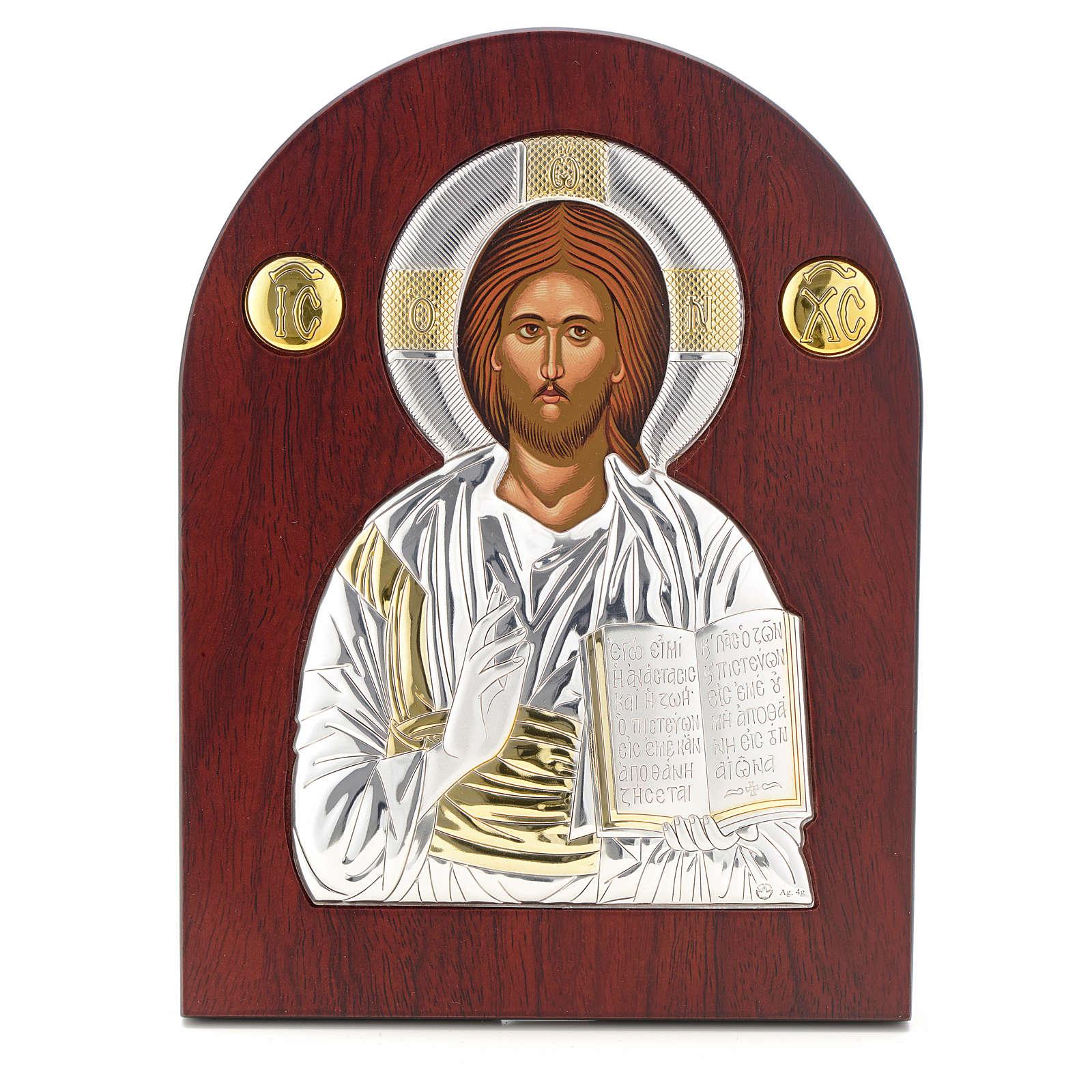 Icona argento serigrafata ad arco Cristo 4