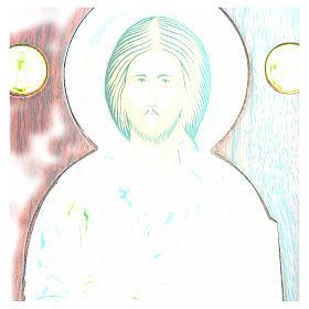 Icona argento serigrafata ad arco Cristo s4