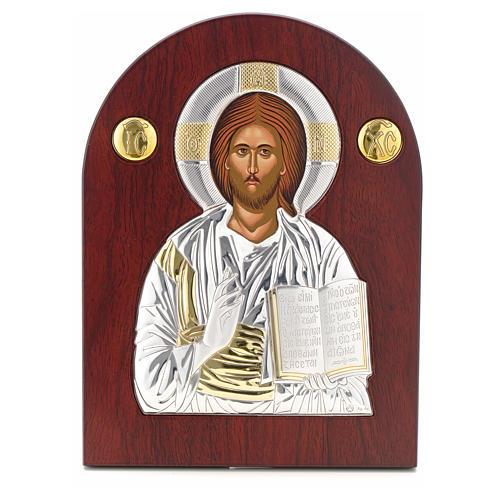 Icona argento serigrafata ad arco Cristo 1