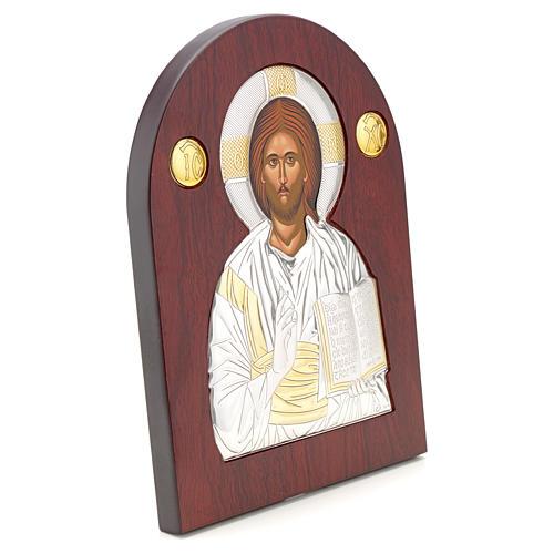 Icona argento serigrafata ad arco Cristo 2