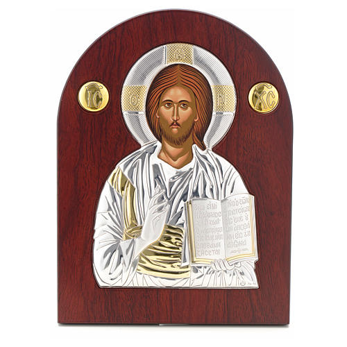 Ikona srebro serigrafowana łuk Chrystus 1