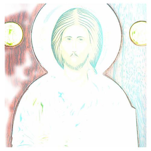 Ikona srebro serigrafowana łuk Chrystus 4