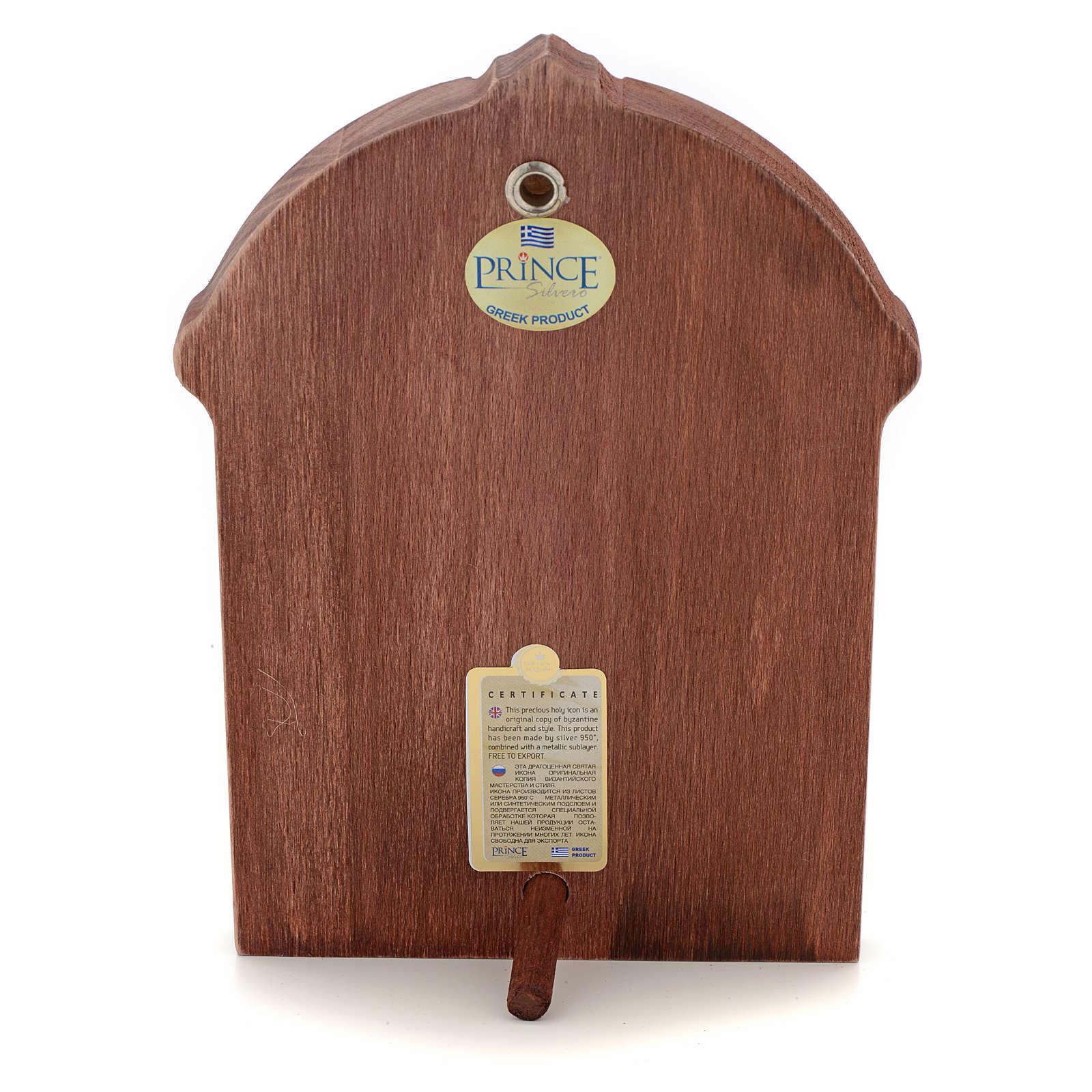Icono serigrafiado Cristo marco madera 4