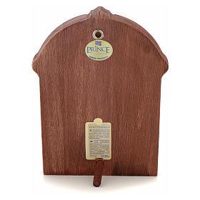 Icono serigrafiado Cristo marco madera s3