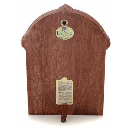 Icono serigrafiado Cristo marco madera 3
