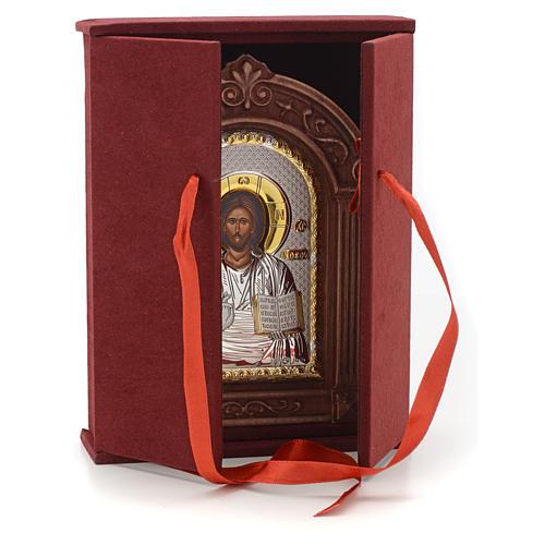 Icône sérigraphiée Christ encadrement bois 4