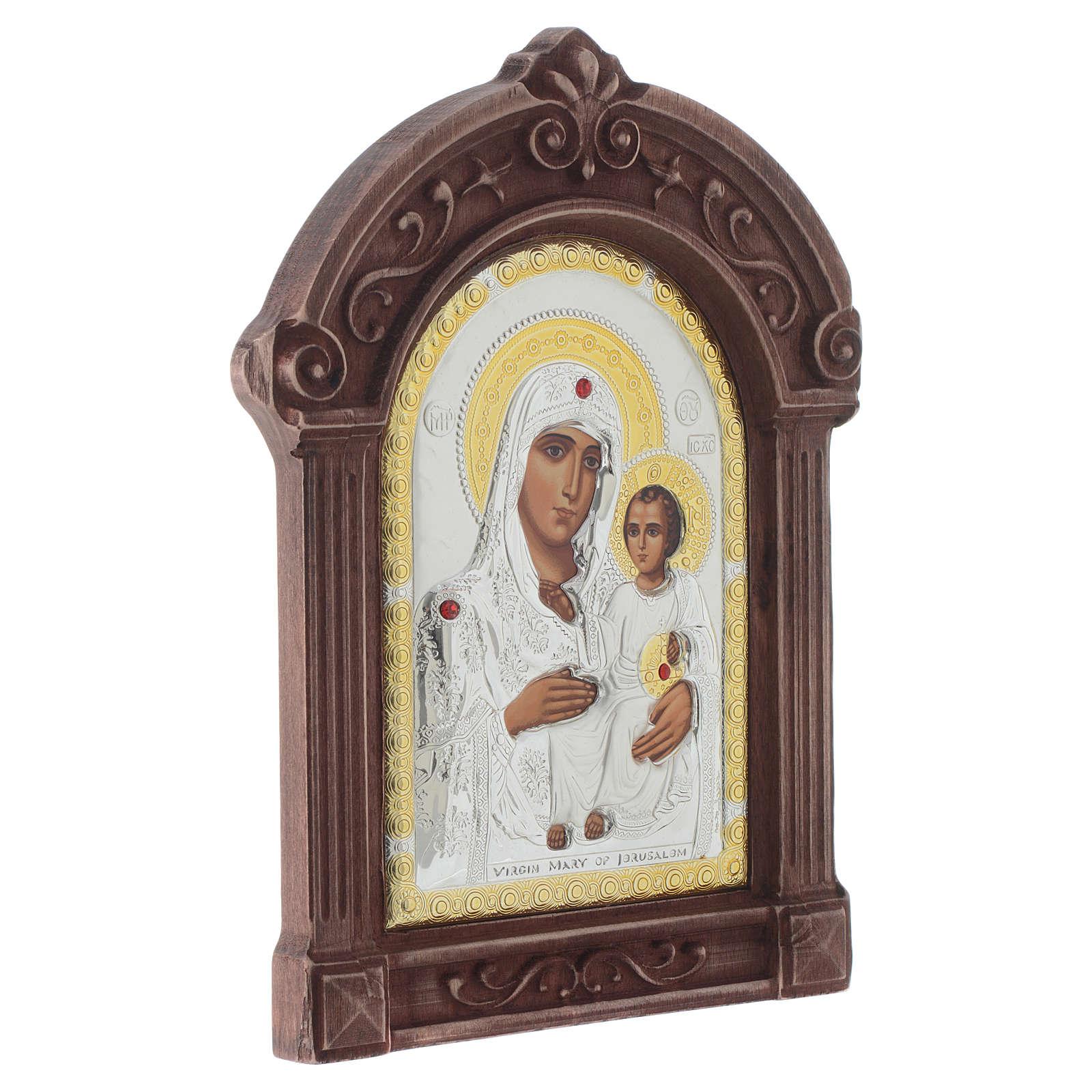 Icona serigrafata Maria di Gerusalemme cornice legno 4