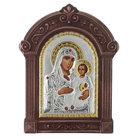 Icona serigrafata Maria di Gerusalemme cornice legno s1