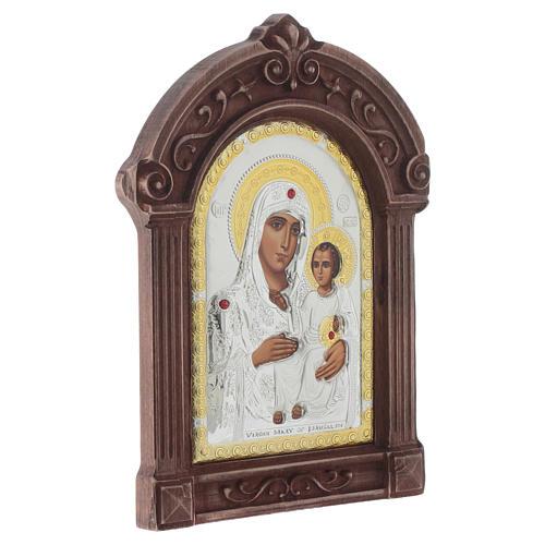 Icona serigrafata Maria di Gerusalemme cornice legno 2