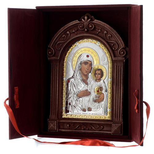 Icona serigrafata Maria di Gerusalemme cornice legno 5