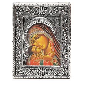 STOCK Icona Madonna Korsun lamina argento 925 cm 12x9,5 s1