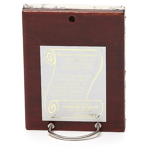 STOCK Icona Madonna Korsun lamina argento 925 cm 12x9,5 2