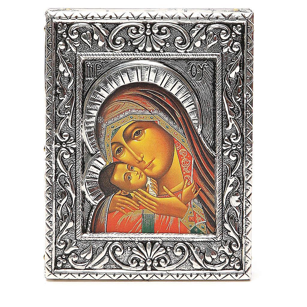STOCK Icon Korsun Madonna silver 925 foil 12x9,5cm 4