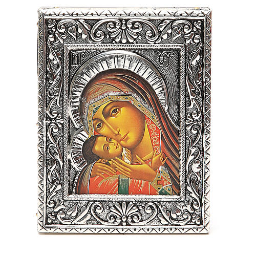 STOCK Icon Korsun Madonna silver 925 foil 12x9,5cm 1