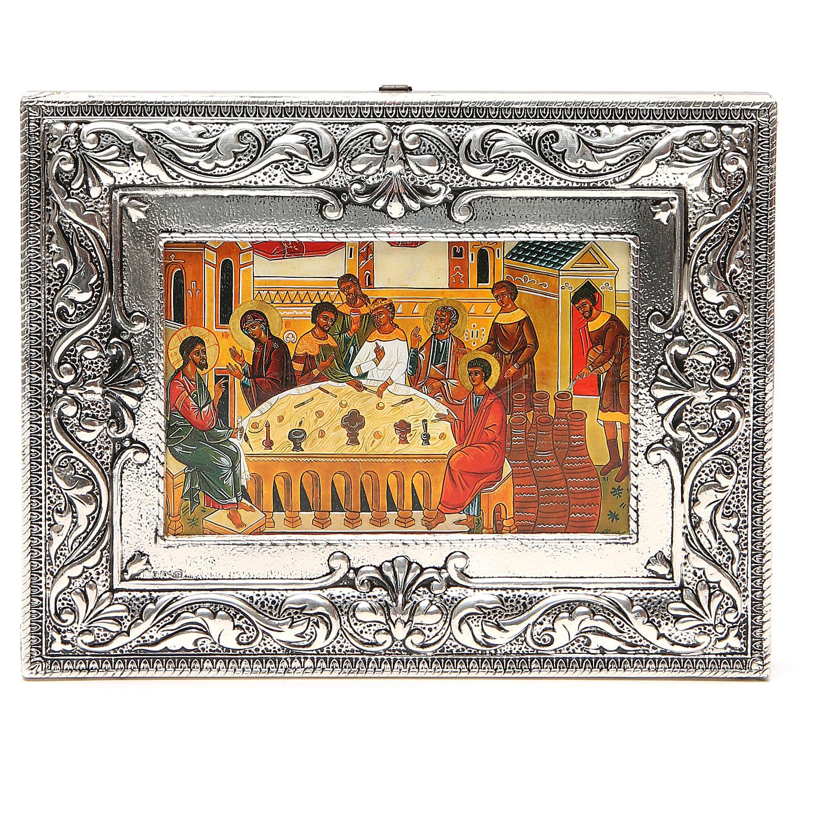 STOCK Icona Nozze di Cana lamina argento 925 cm 18x23 4