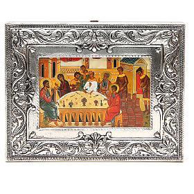 STOCK Icona Nozze di Cana lamina argento 925 cm 18x23 s1