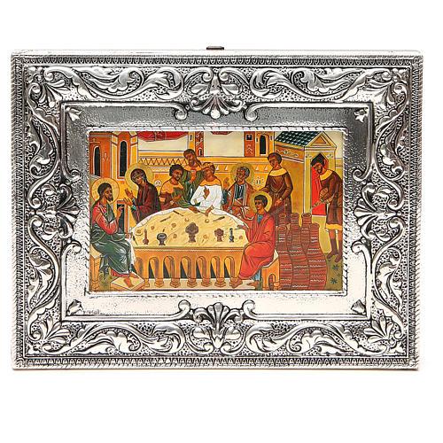 STOCK Icona Nozze di Cana lamina argento 925 cm 18x23 1