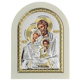 Icône Sainte Famille 24x18 cm argent 925 finitions dorées s1