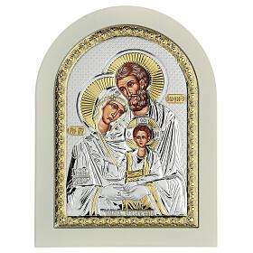 Icône Sainte Famille 24x18 cm argent 925 finitions dorées s2