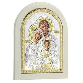 Icône Sainte Famille 24x18 cm argent 925 finitions dorées s3