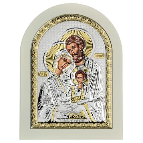 Icône Sainte Famille 24x18 cm argent 925 finitions dorées 2