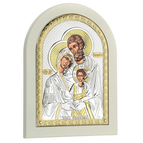 Icône Sainte Famille 24x18 cm argent 925 finitions dorées 3