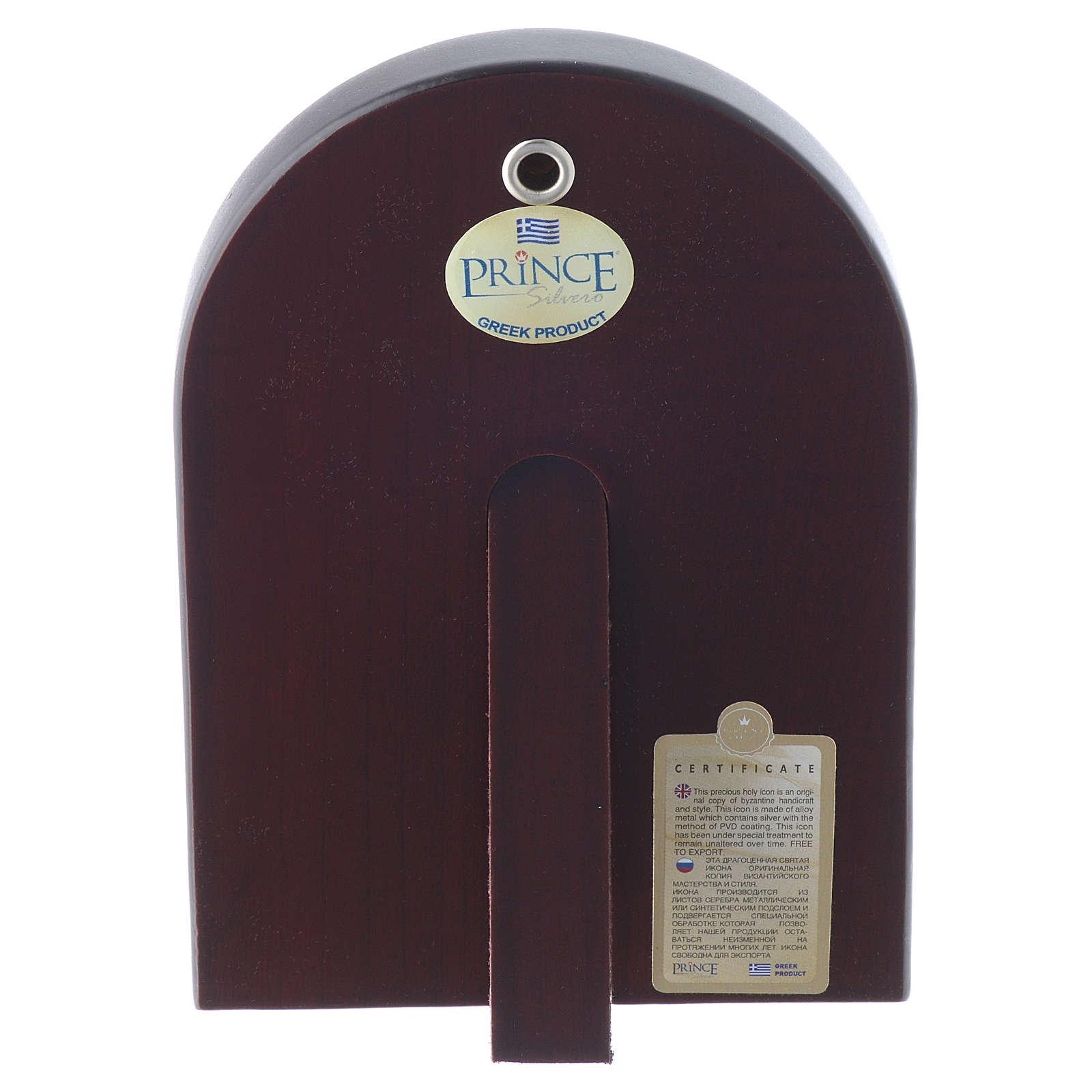 Icône Christ Pantocrator 14x10 cm argent 925 finitions dorées 4